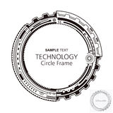 Kreisförmiger abstrakter Technologie-Rahmen Stockfoto