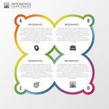 Kreisgegenstände Infographic Entwurf Schablone für Diagramm, Diagramm, Darstellung und Diagramm Auch im corel abgehobenen Betrag Lizenzfreie Stockfotografie