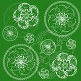 Kreisgrüner mit Blumenhintergrund Lizenzfreie Stockfotos