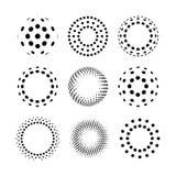 Kreishalbtonlogoikonen Abstrakte Auslegungelemente Stockfoto