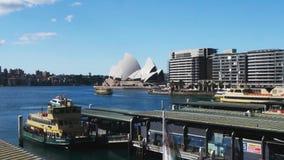 Kreiskai an der Sydney-HafenZeitspanne stock video footage