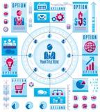Kreiskonzept Infographics mit Los Elementen, Kreis divid Stockfotografie