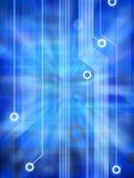 Kreisläuf-Hintergrund des Computer-3D Stockfoto