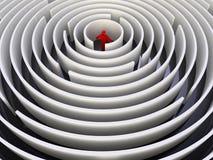 Kreislabyrinth Lizenzfreie Stockfotografie