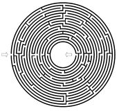 Kreislabyrinth Stockfotografie