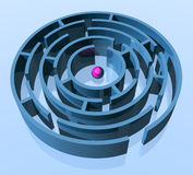 Kreislabyrinth Stockfoto