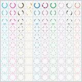 100 Kreislauf-Pfeil-Vektor für Infographic Stockbild