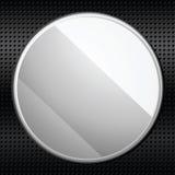 Kreismetallplakette Lizenzfreies Stockfoto
