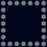 Kreismuster der schönen Weinlese des Inders, Blumenrunde vektor abbildung