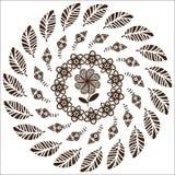 Kreismuster von Blumen Lizenzfreies Stockbild