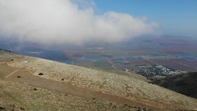Kreispanorama des Bergs Gilboa stock footage