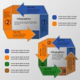 Kreispfeile infographics Lizenzfreie Stockfotografie