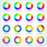 Kreispfeilschablone für Ihr Geschäftsprojekt Lizenzfreie Stockfotografie