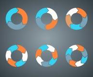 Kreispfeilschablone für Ihr Geschäftsprojekt Stockfotografie
