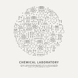 Kreisplakat-Chemikalienlabor Lizenzfreies Stockbild