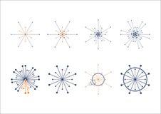 Kreispunkt-Verbindungslogo Stockbilder