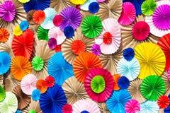 Kreisradialmuster origami Papierhandwerk bunt Stockbild