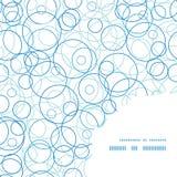 Kreisrahmen-Eckenmuster des Vektors abstraktes blaues Stockbilder