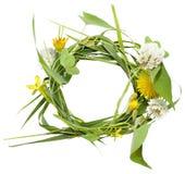 Kreisrahmen von den Frühlingsblumen Lizenzfreie Stockfotografie