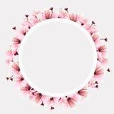 Kreisraum mit Blume vektor abbildung