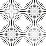 Kreissatz Gestaltungselemente Halbtonkreis Halbtonquadrat Lizenzfreie Stockbilder