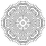 Kreisspitzeverzierung, rundes dekoratives geometrisches Stockfoto