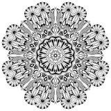 Kreisspitzeverzierung, rundes dekoratives geometrisches Stockfotos