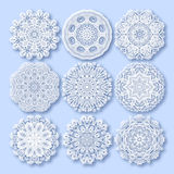 Kreisspitzeverzierung, rundes dekoratives geometrisches Stockbilder