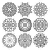 Kreisspitzeverzierung, rundes dekoratives geometrisches Lizenzfreies Stockbild