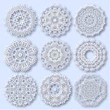 Kreisspitzeverzierung, rundes dekoratives geometrisches Lizenzfreies Stockfoto