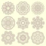 Kreisspitzeverzierung, rundes dekoratives geometrisches Lizenzfreie Stockfotos