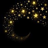 Kreisstrom von funkelnden Sternen lizenzfreie abbildung