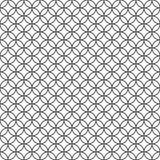 Kreist abstrakte Hand gezeichnetes Entwurf Retro- Rossing nahtlose Musterasiatsart ein vektor abbildung