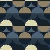 Kreist nahtloses Muster der Illusion ein Stockbilder