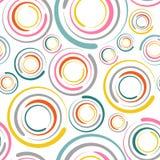 Kreist nahtloses Muster ein Stockfoto