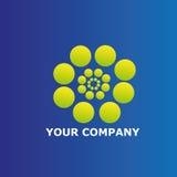 Kreist Unternehmenslogoschablone ein Lizenzfreie Stockfotografie