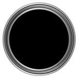 Kreistaste mit Metallfeld Stockfoto