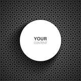 Kreistextboxdesign für Ihren Inhalt mit abstraktem Hintergrund Lizenzfreie Stockfotografie