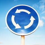 Kreisverkehrzeichen Stockfotografie