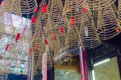 Kreisweihrauch im chinesischen Tempel Lizenzfreies Stockbild