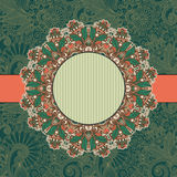 Kreisweinlese Ornamentalschablone Stockfoto