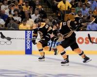 Krejci och Lucic, Boston Bruins Arkivfoto
