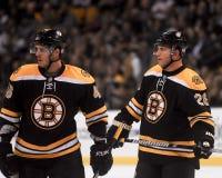 Krejci und Recchi, Boston Bruins Stockbild