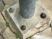 Krekingowy Stalowy lampowy słup zdjęcia stock