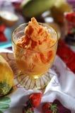 krem lodowy papaja Fotografia Royalty Free