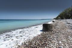Kremasti strand Rhodes Greece Royaltyfri Fotografi