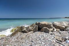 Kremasti strand Rhodes Greece Arkivbilder