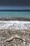 Kremasti strand Rhodes Greece Arkivfoton