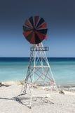 Kremasti strandväderkvarn Rhodes Greece Royaltyfri Bild