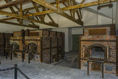 Krematorium för Dachau koncentrationslägerugnar royaltyfri fotografi